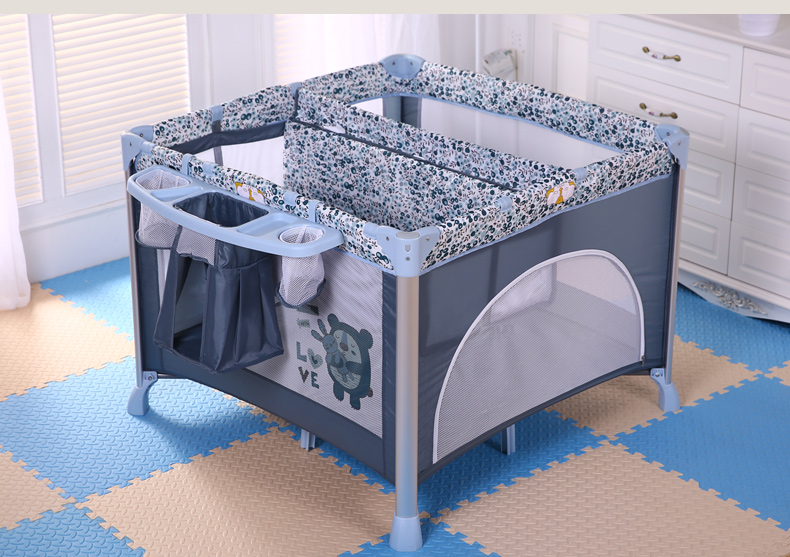 dwu 2 poziomowy kojec eczko turystyczne ko dla dziecka koszyk przewijak du e niebieski. Black Bedroom Furniture Sets. Home Design Ideas