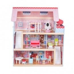 Drewniany domek dla lalek 3...