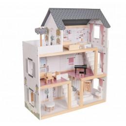 Duży drewniany domek z...