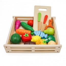 Drewniane owoce i warzywa +...