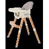 Krzesełko do karmienia 2w1 szare
