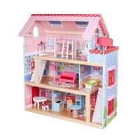 Drewniane domki dla lalek